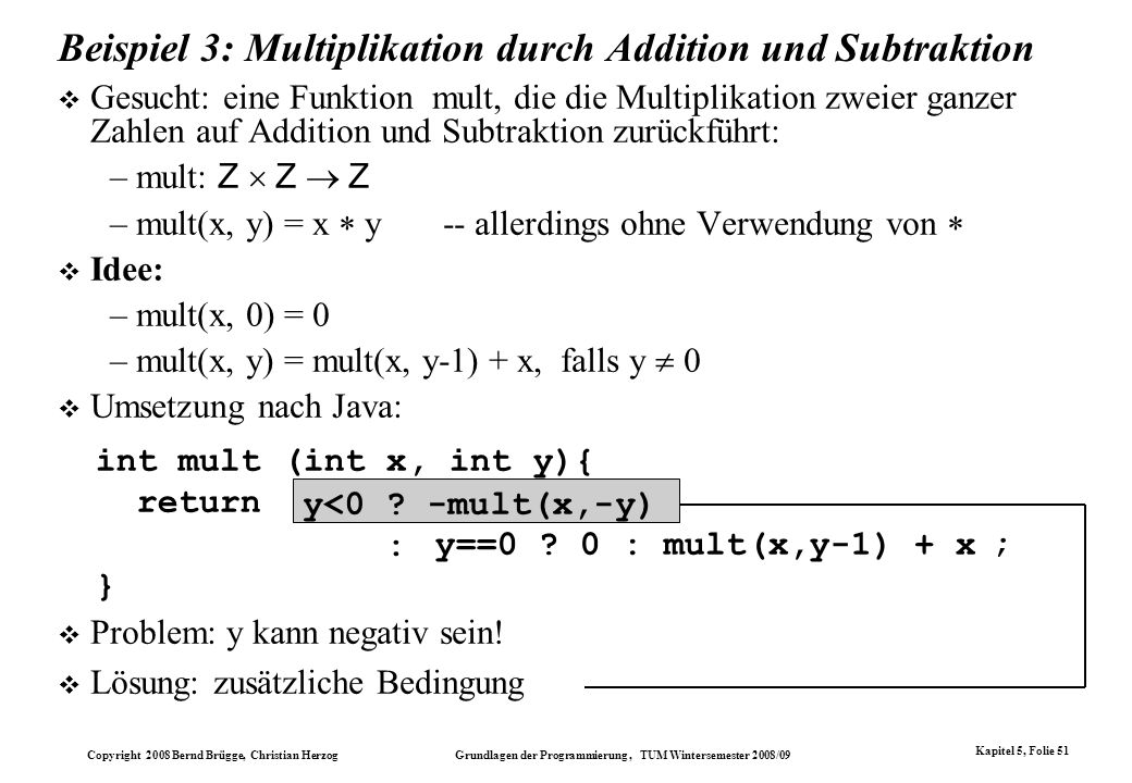 Beispiel 3: Multiplikation durch Addition und Subtraktion
