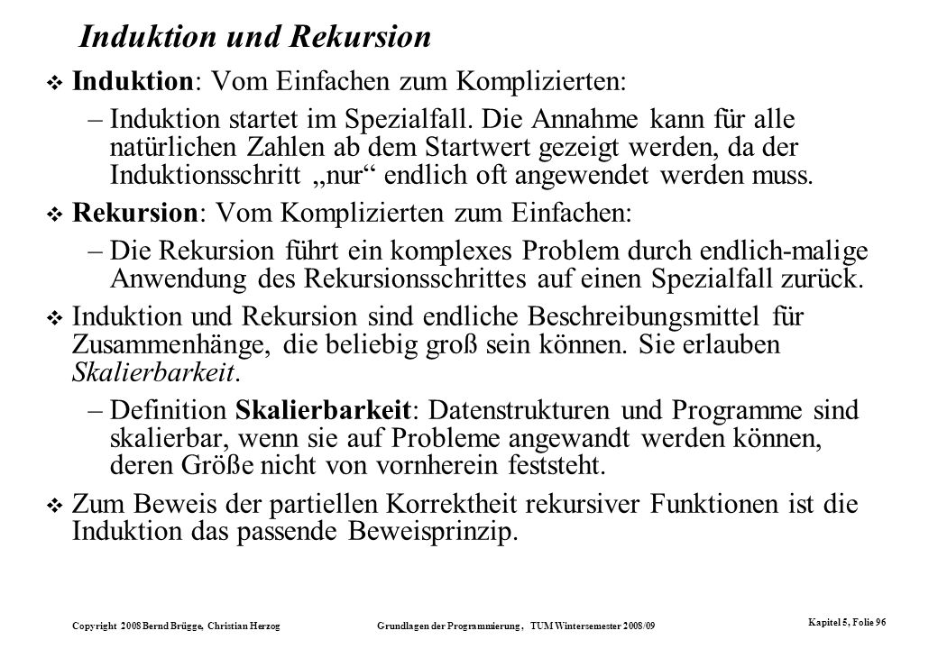 Induktion und Rekursion