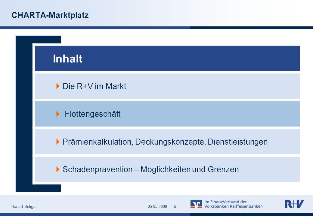 Inhalt CHARTA-Marktplatz Die R+V im Markt Flottengeschäft