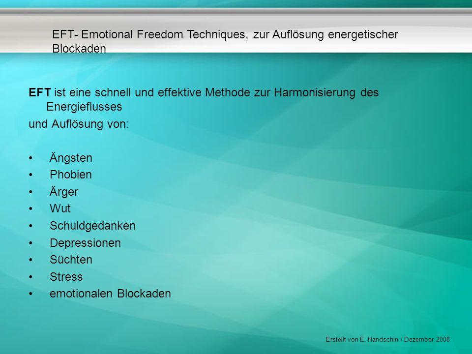 EFT ist eine schnell und effektive Methode zur Harmonisierung des Energieflusses