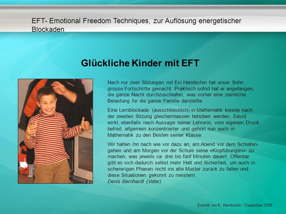 Glückliche Kinder mit EFT