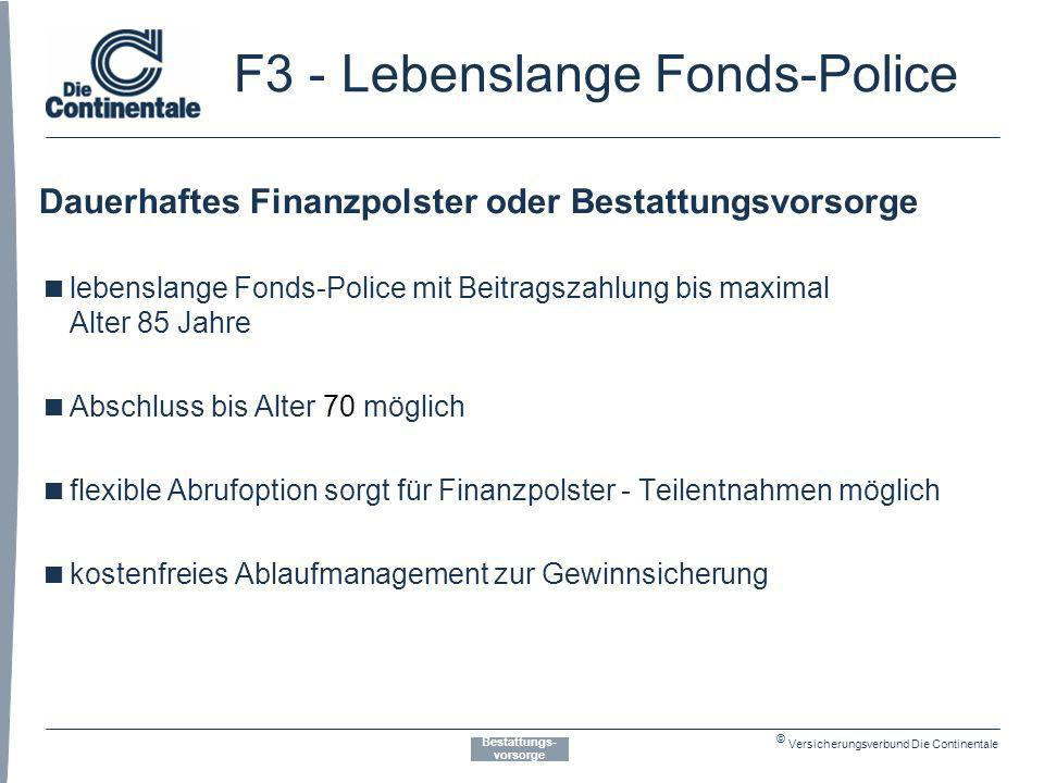 F3 - Lebenslange Fonds-Police