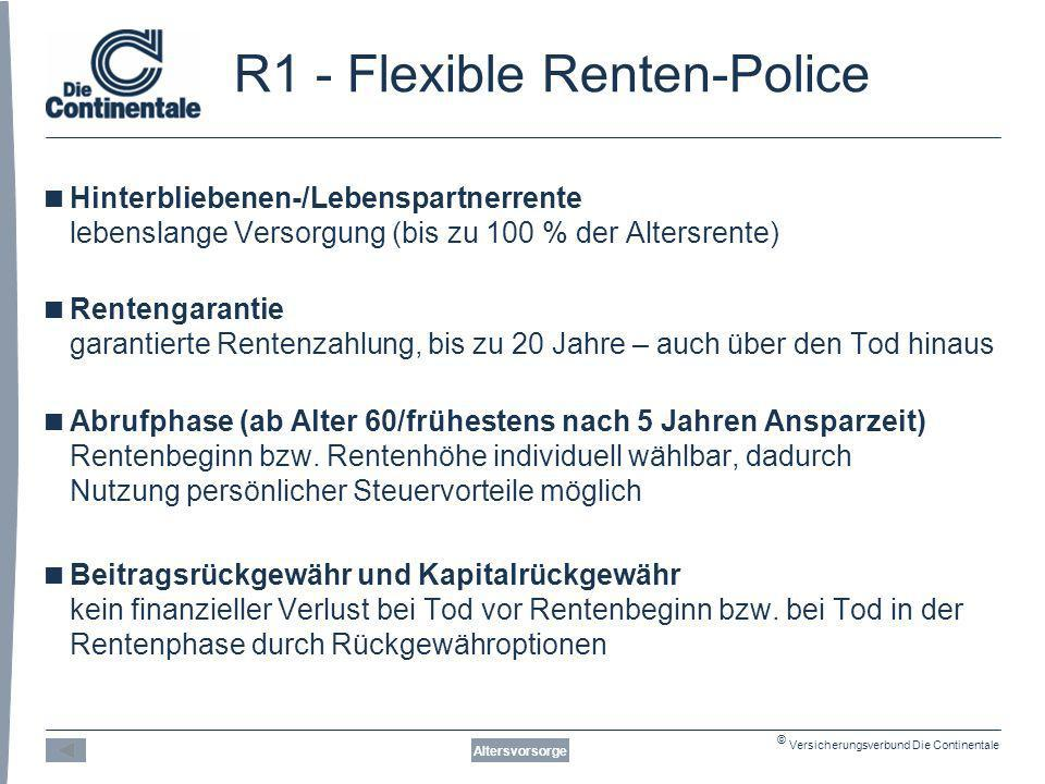 R1 - Flexible Renten-Police