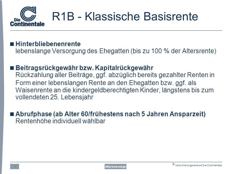 R1B - Klassische Basisrente
