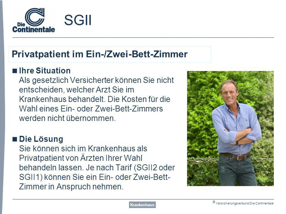SGII Privatpatient im Ein-/Zwei-Bett-Zimmer