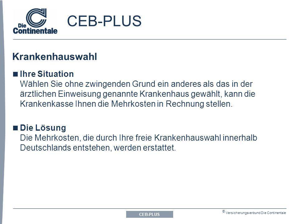 CEB-PLUS Krankenhauswahl