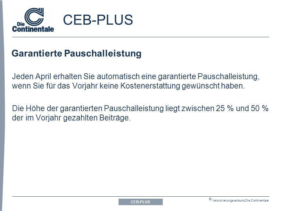 CEB-PLUS Garantierte Pauschalleistung