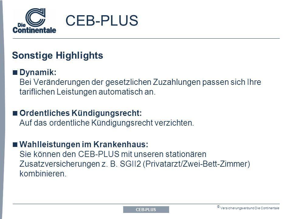 CEB-PLUS Sonstige Highlights