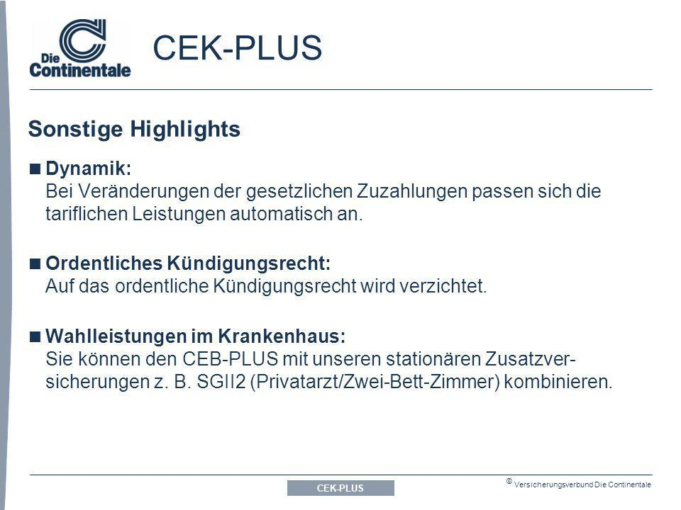 CEK-PLUS Sonstige Highlights