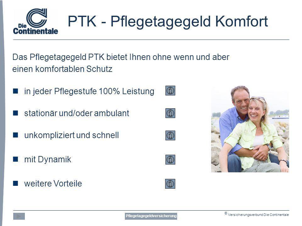 PTK - Pflegetagegeld Komfort