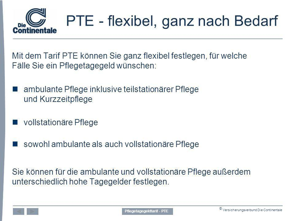 PTE - flexibel, ganz nach Bedarf