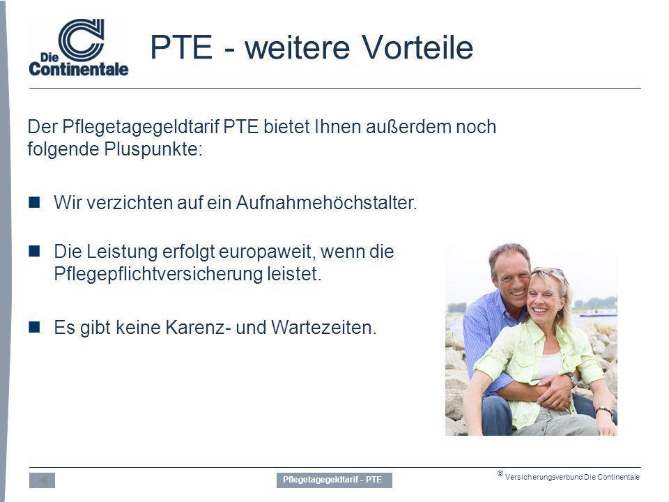 Pflegetagegeldtarif - PTE