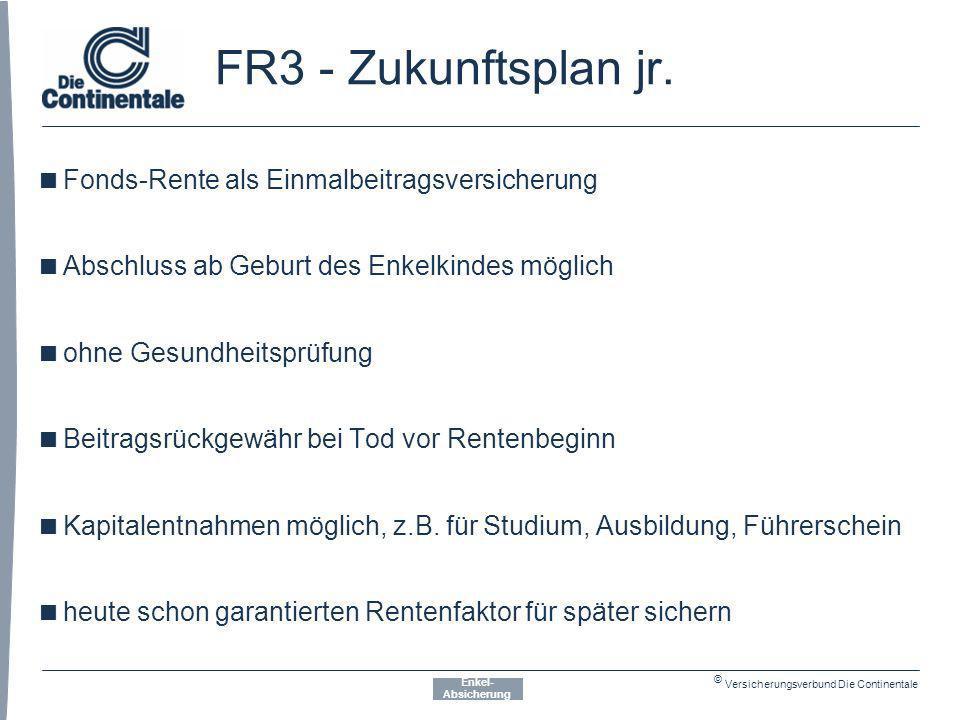 FR3 - Zukunftsplan jr. Fonds-Rente als Einmalbeitragsversicherung