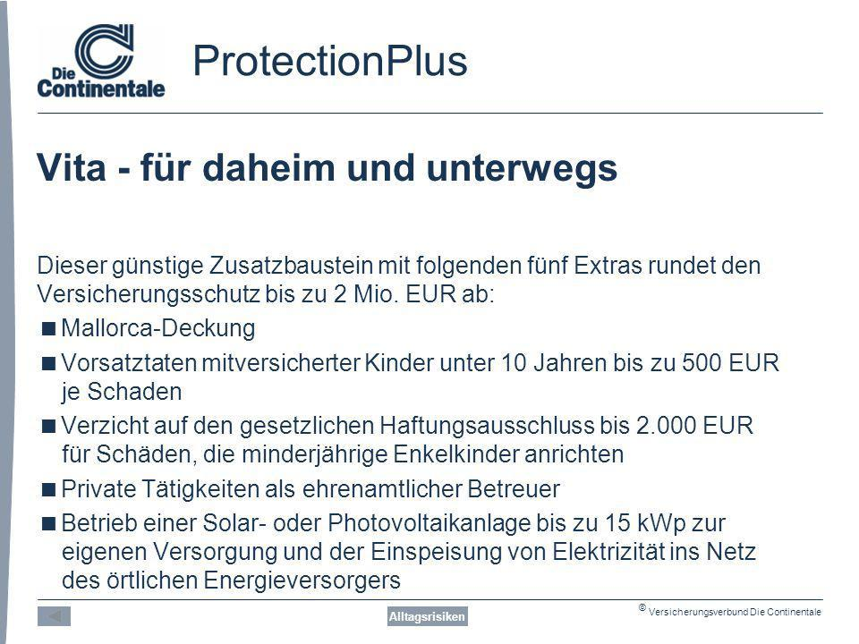 ProtectionPlus Vita - für daheim und unterwegs