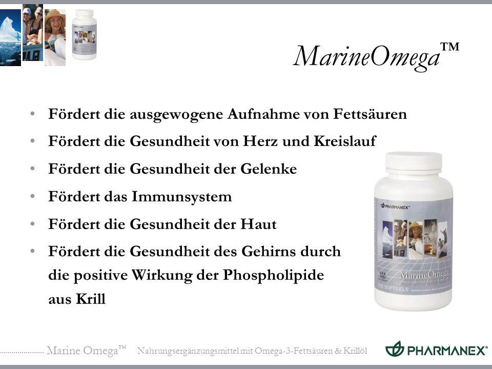 MarineOmega™ Fördert die ausgewogene Aufnahme von Fettsäuren
