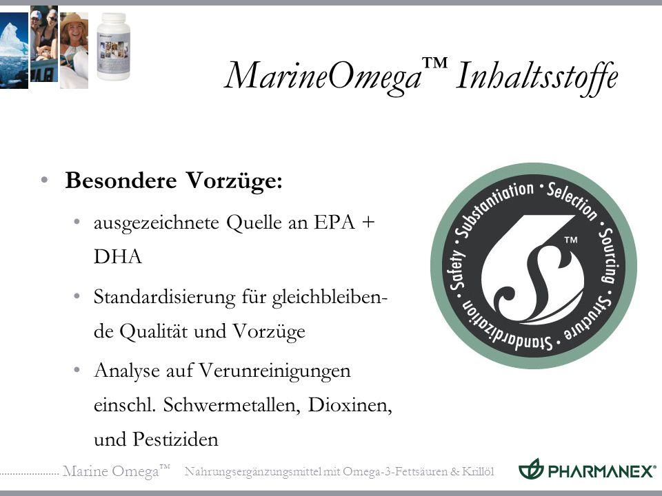 MarineOmega™ Inhaltsstoffe