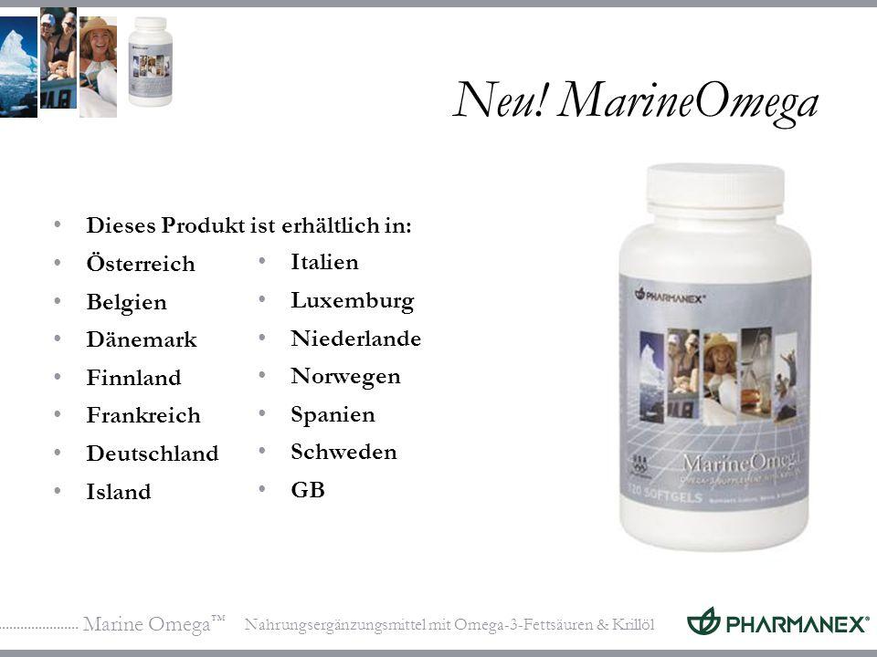Neu! MarineOmega Dieses Produkt ist erhältlich in: Österreich Belgien