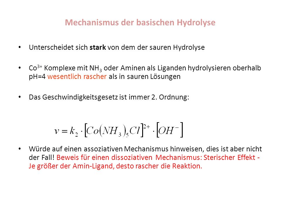 Mechanismus der basischen Hydrolyse