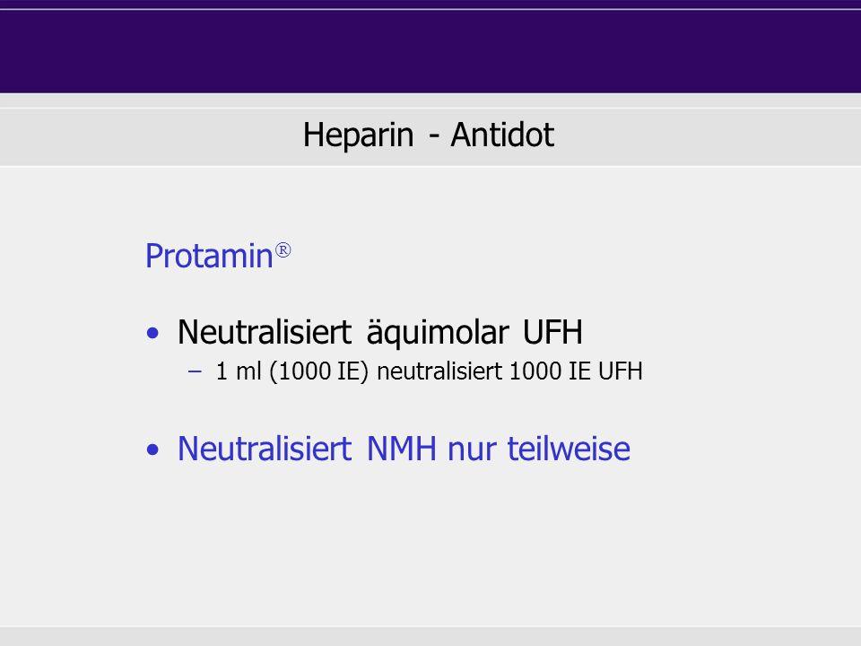 Neutralisiert äquimolar UFH
