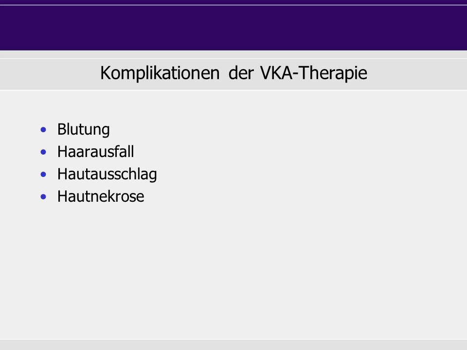Komplikationen der VKA-Therapie