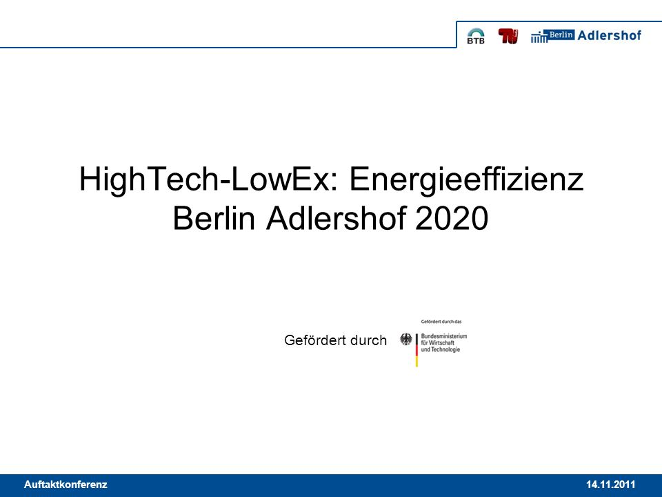 HighTech-LowEx: Energieeffizienz Berlin Adlershof 2020