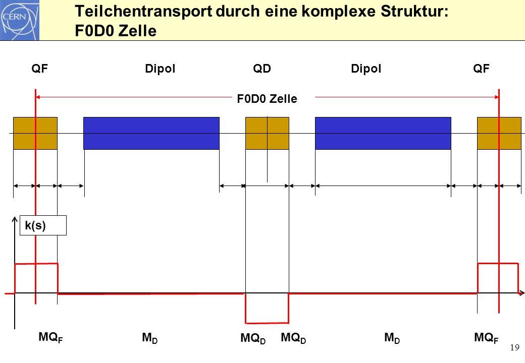 Teilchentransport durch eine komplexe Struktur: F0D0 Zelle