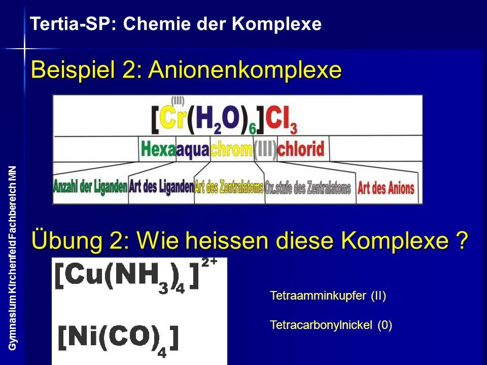 Beispiel 2: Anionenkomplexe