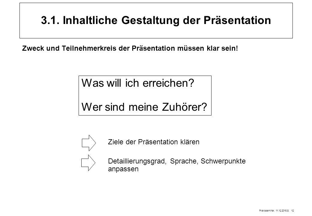 3.1. Inhaltliche Gestaltung der Präsentation