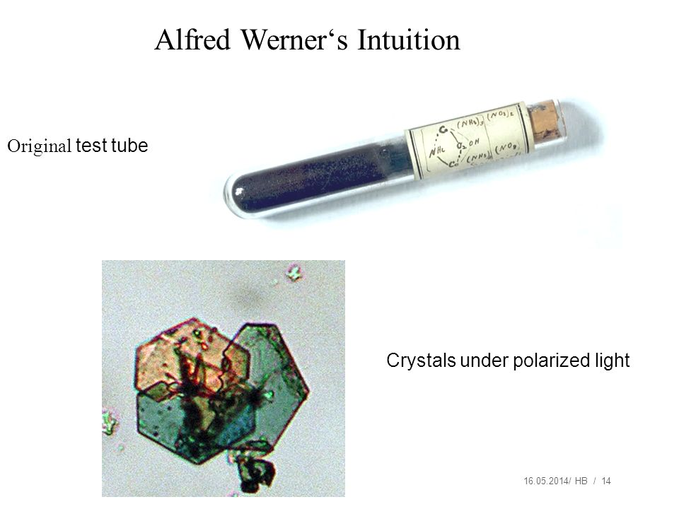 Alfred Werner's Intuition