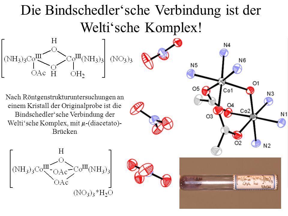 Die Bindschedler'sche Verbindung ist der Welti'sche Komplex!