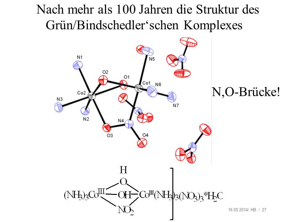 Nach mehr als 100 Jahren die Struktur des Grün/Bindschedler'schen Komplexes