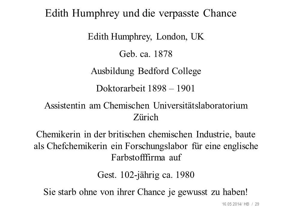 Edith Humphrey und die verpasste Chance