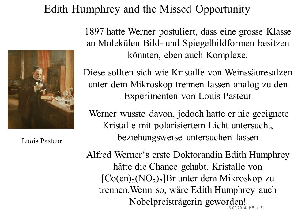 Edith Humphrey and the Missed Opportunity