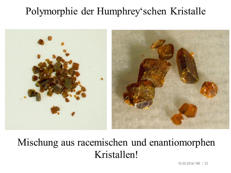 Polymorphie der Humphrey'schen Kristalle