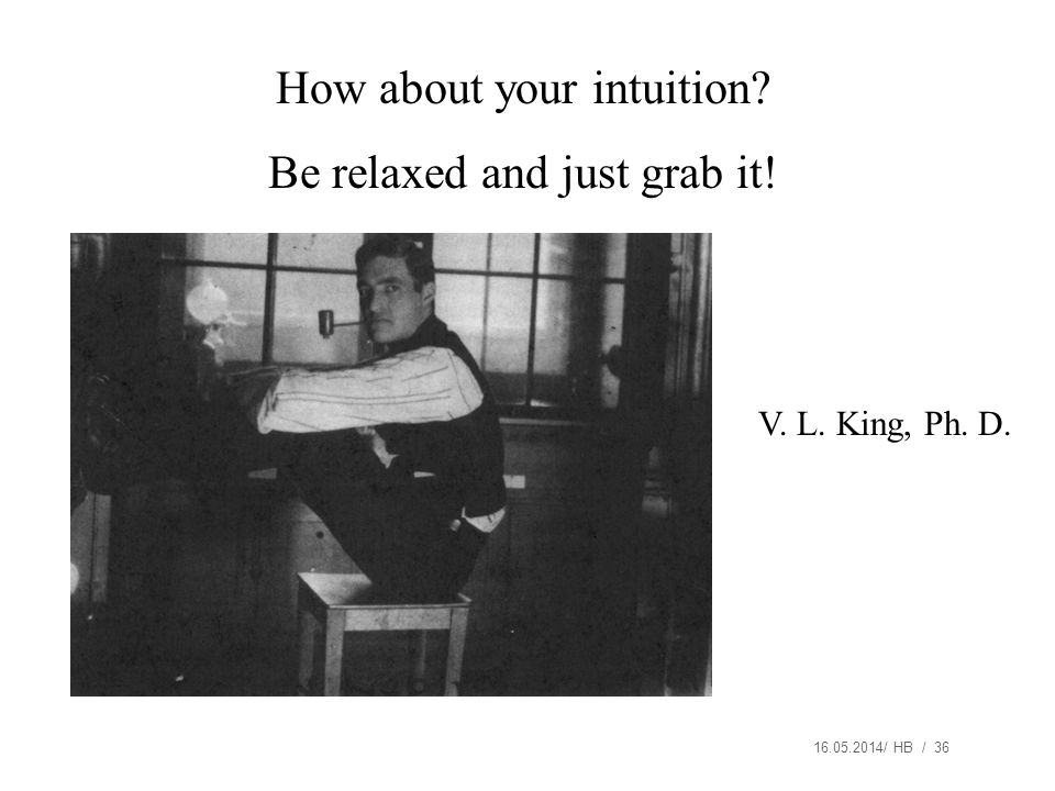 How about your intuition Be relaxed and just grab it!