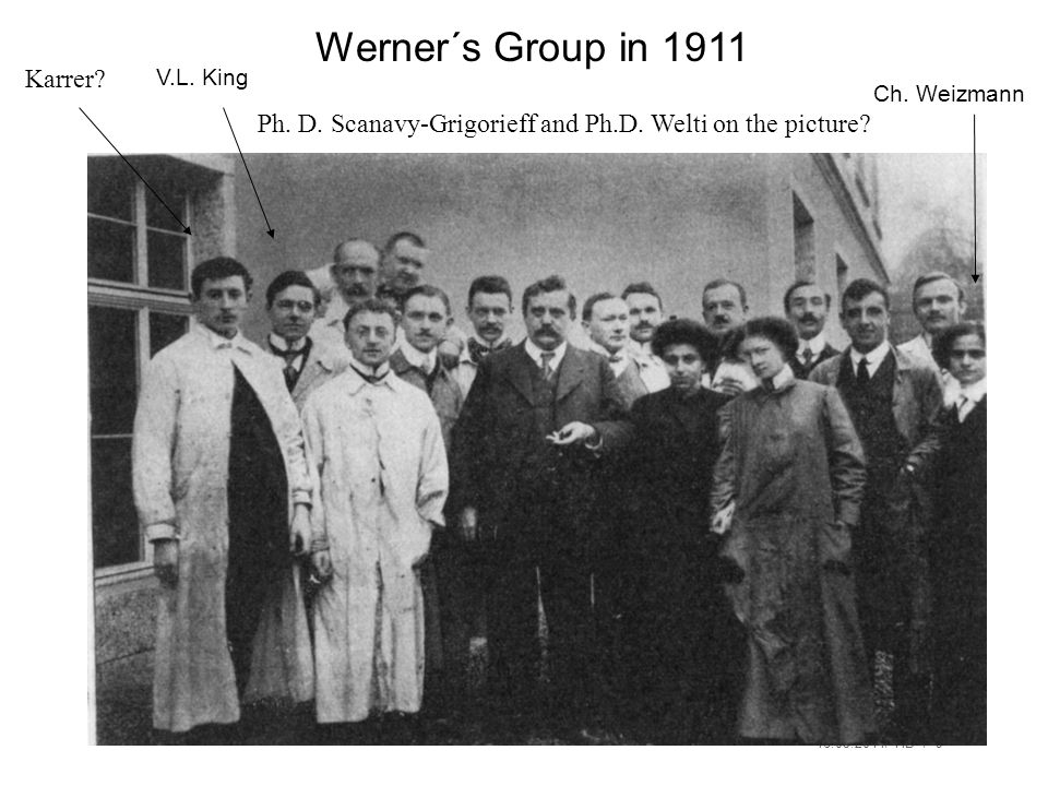 Werner´s Group in 1911 Karrer