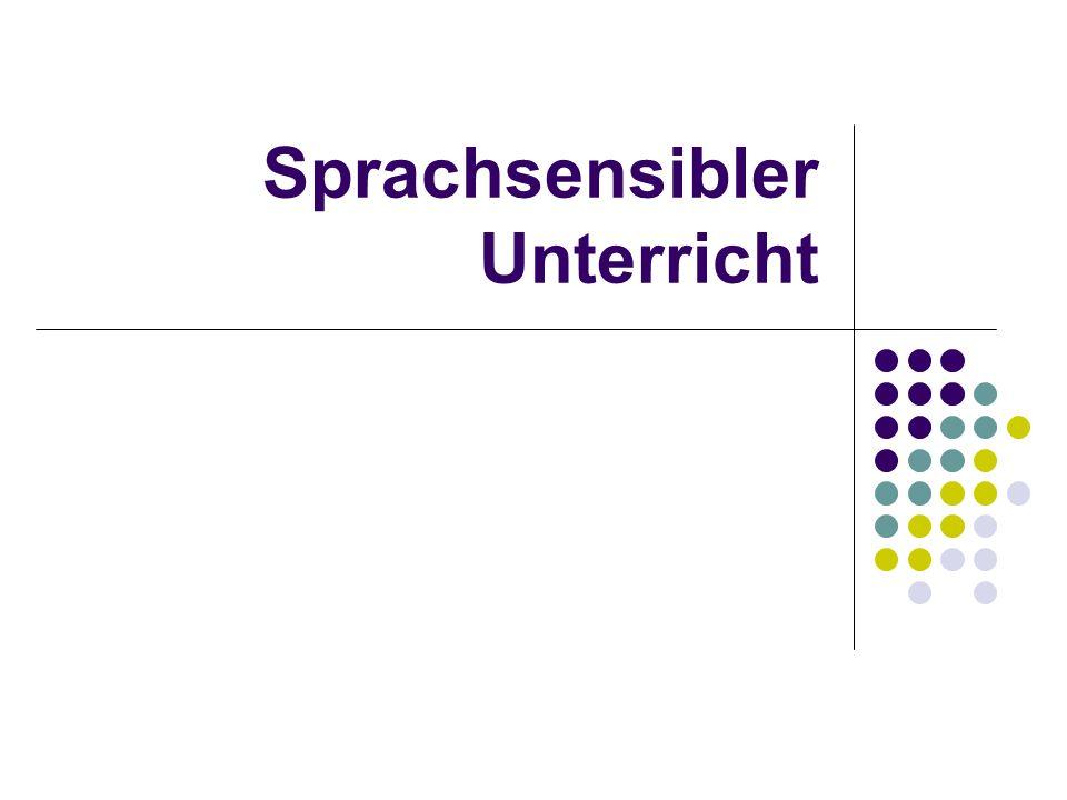 Sprachsensibler Unterricht