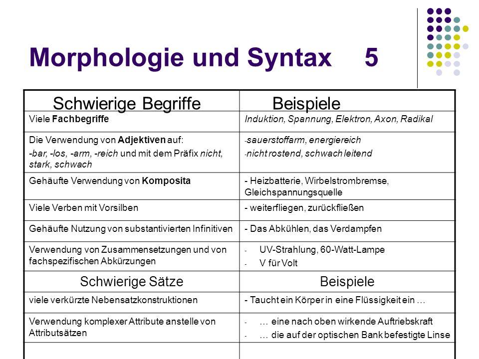 Morphologie und Syntax 5