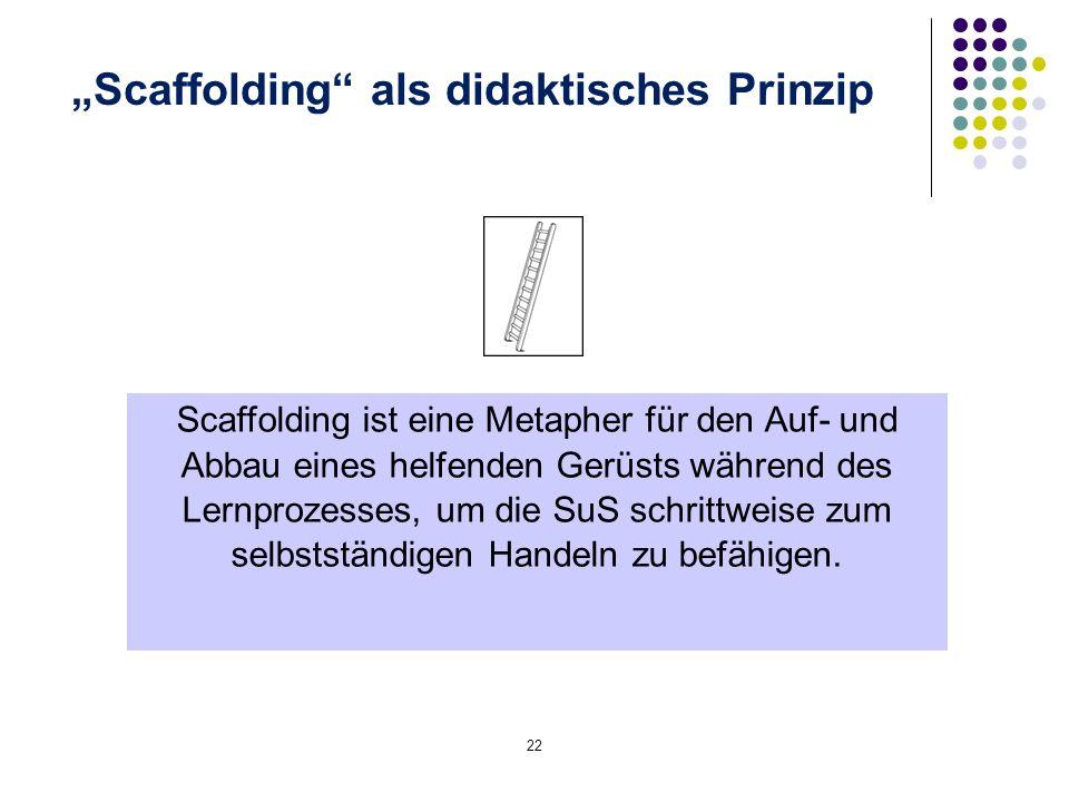 """""""Scaffolding als didaktisches Prinzip"""