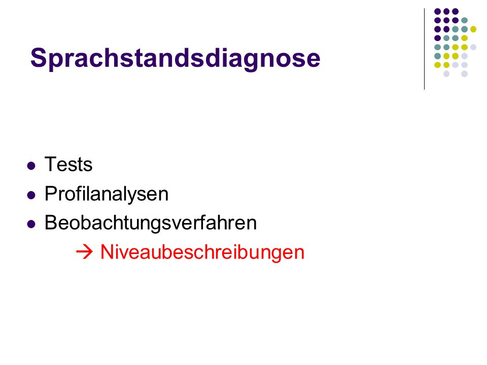Sprachstandsdiagnose