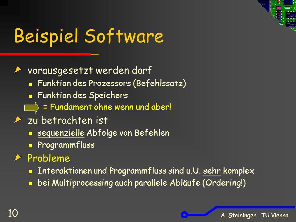 Beispiel Software vorausgesetzt werden darf zu betrachten ist Probleme