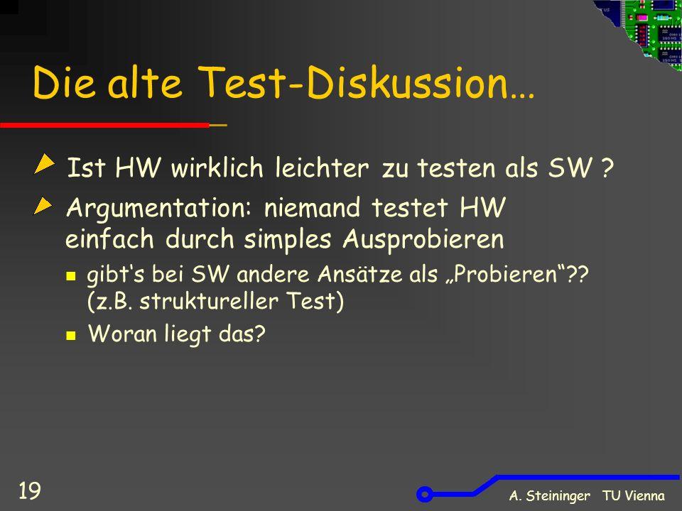 Die alte Test-Diskussion…