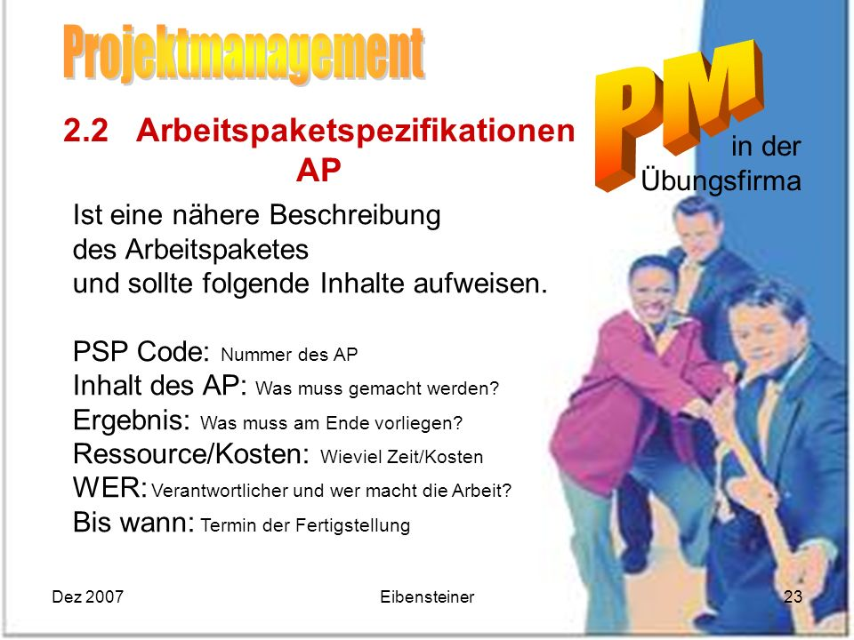2.2 Arbeitspaketspezifikationen AP