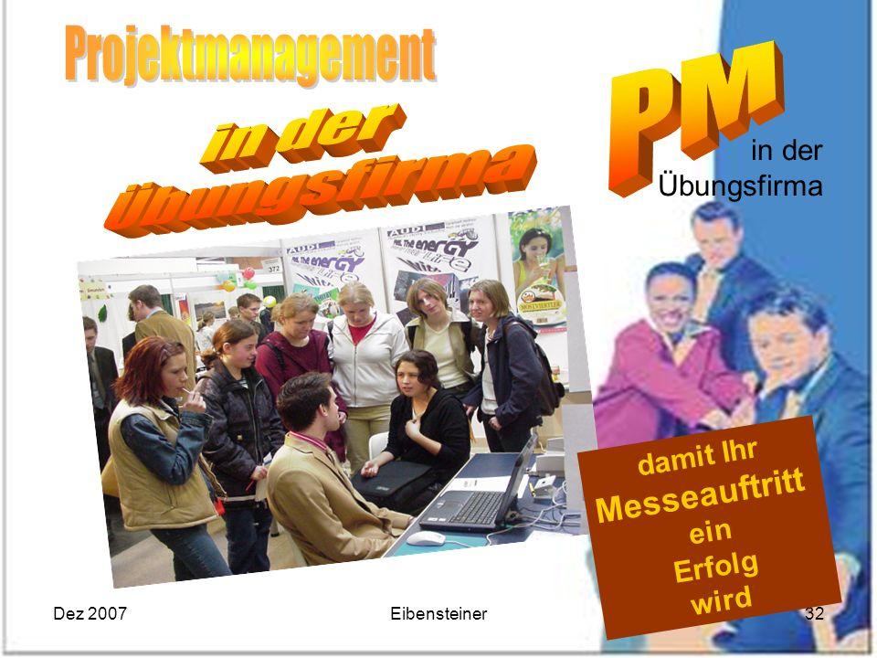 Projektmanagement in der Übungsfirma Messeauftritt in der Übungsfirma