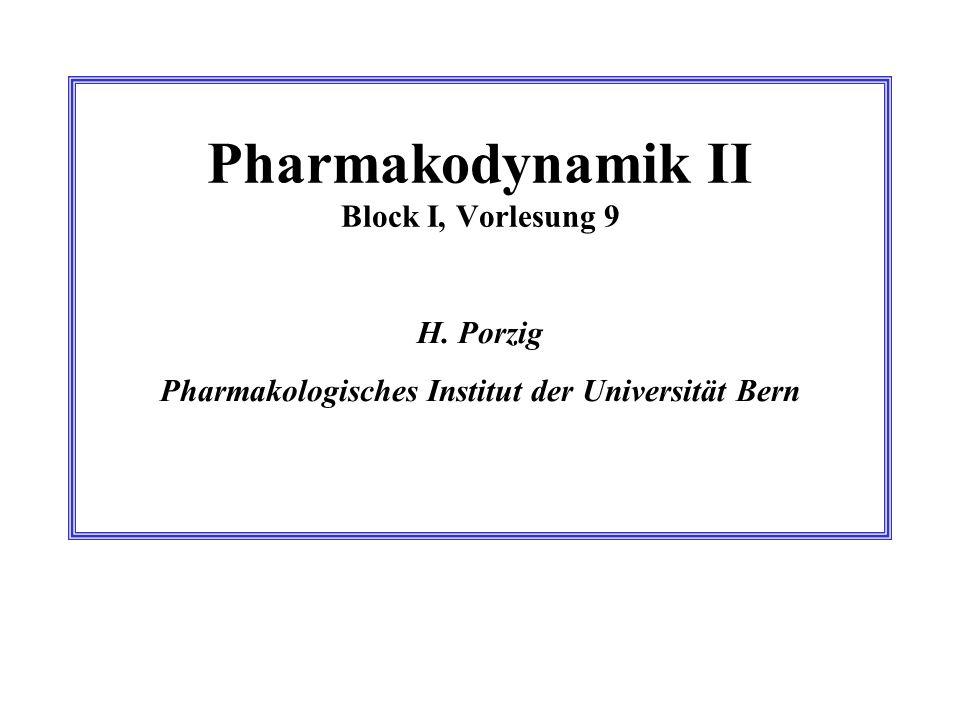 Pharmakodynamik II Block I, Vorlesung 9