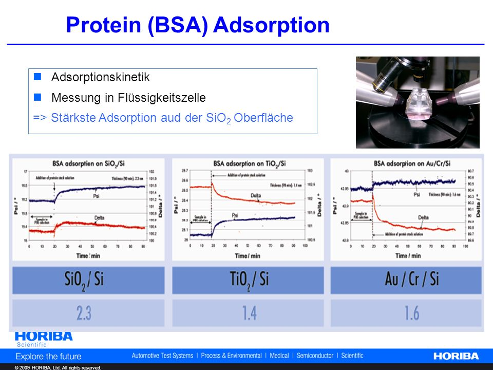 Protein (BSA) Adsorption