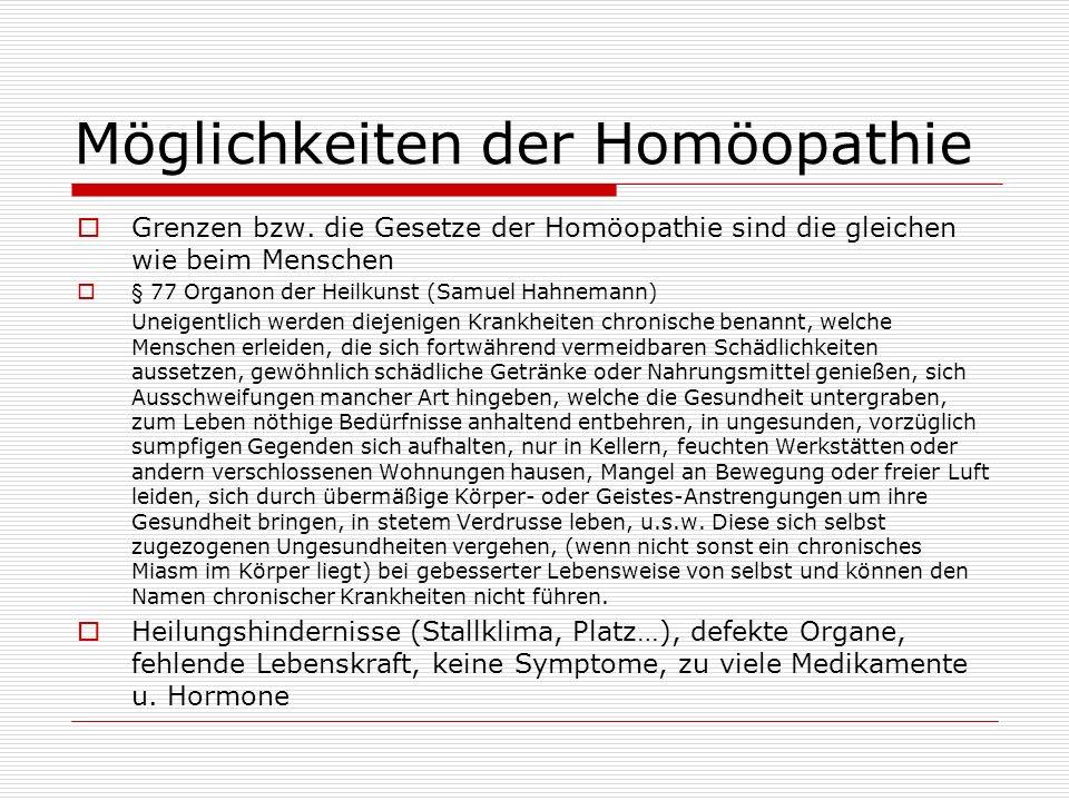 Möglichkeiten der Homöopathie