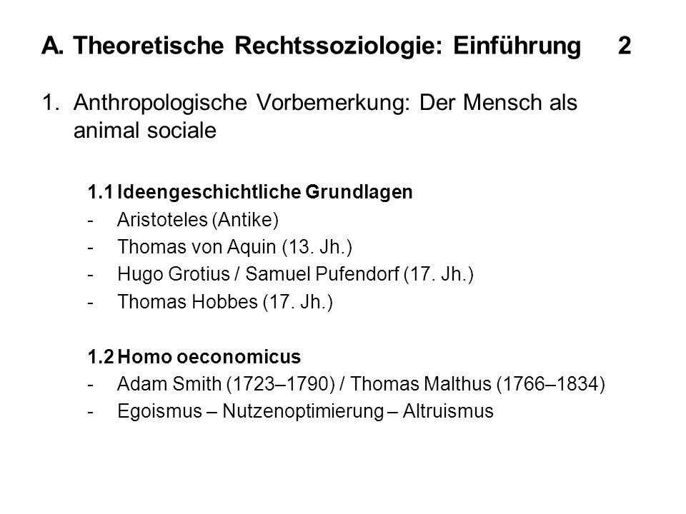 A. Theoretische Rechtssoziologie: Einführung 2