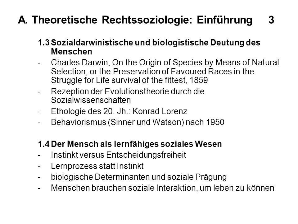 A. Theoretische Rechtssoziologie: Einführung 3