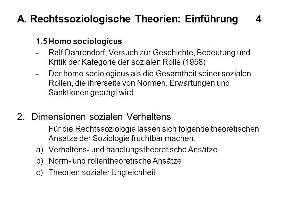 A. Rechtssoziologische Theorien: Einführung 4